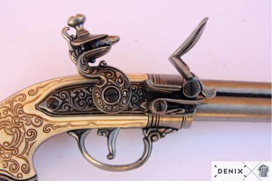 1016g-c-denix-flintlock-pistol-with-3-barrels–italy-1680
