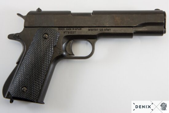 1316-2-denix-Automatic–45-pistol-M1911A1–USA-1911–WWI—II-