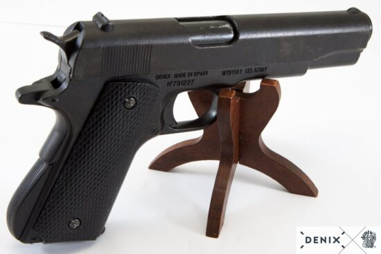 1316-D-denix-Automatic–45-pistol-M1911A1–USA-1911–WWI—II-