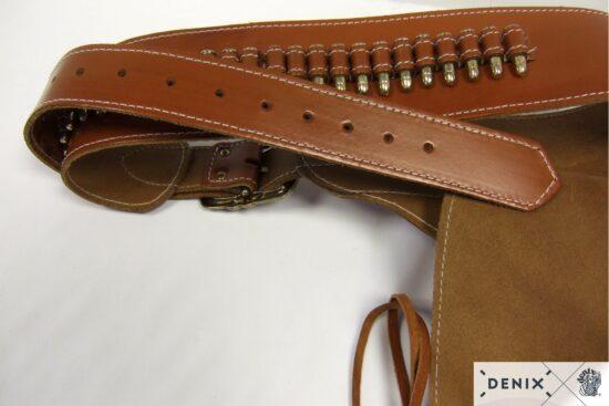 721-b-denix-Leather-cartridge-belt-for-one-revolver