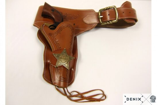 721-c-denix-Leather-cartridge-belt-for-one-revolver