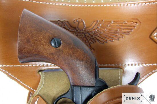 721-e-denix-Leather-cartridge-belt-for-one-revolver