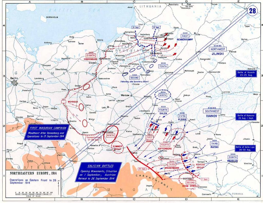 Eastern Front to September 26, 1914
