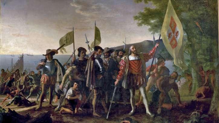 Landing-Columbus-oil-canvas-John-Vanderlyn-US-1846